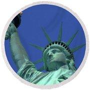 Statue Of Liberty 15 Round Beach Towel