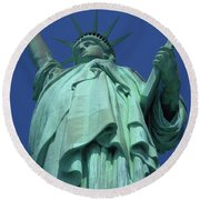 Statue Of Liberty 16 Round Beach Towel