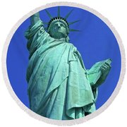 Statue Of Liberty 17 Round Beach Towel