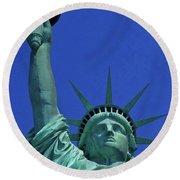 Statue Of Liberty 18 Round Beach Towel