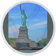 Statue Of Liberty 21 Round Beach Towel