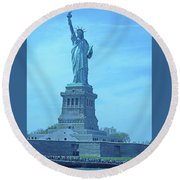 Statue Of Liberty 22 Round Beach Towel