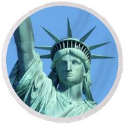 Statue Of Liberty 5 Round Beach Towel
