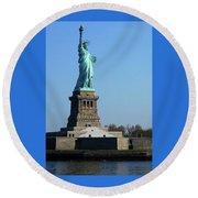 Statue Of Liberty 6 Round Beach Towel