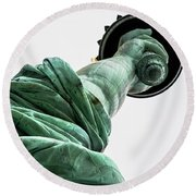 Statue Of Liberty, Arm, 3 Round Beach Towel