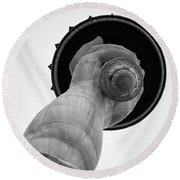 Statue Of Liberty, Hand And Torch Round Beach Towel