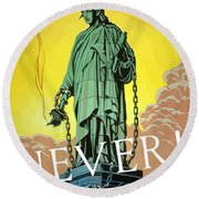 Statue Of Liberty In Chains -- Never Round Beach Towel