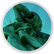 Statue Of Liberty New York City Round Beach Towel