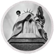 Statue Of Liberty, Tall Round Beach Towel