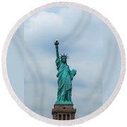 Statue Of Liberty Round Beach Towel
