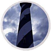 St.augustine Light House Round Beach Towel