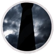 St.augustine Light House Night Round Beach Towel