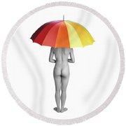 Cool And Dry Round Beach Towel