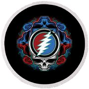 Steal Your Face - Ilustration Round Beach Towel