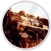Steam Engine 3716 Round Beach Towel