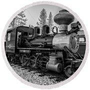 Steam Locomotive 5 Round Beach Towel