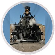 Steam Power Round Beach Towel