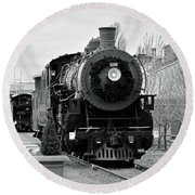 Steam Train Round Beach Towel