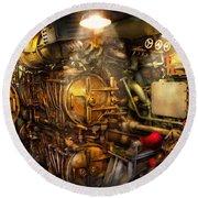 Steampunk - Naval - The Torpedo Room Round Beach Towel