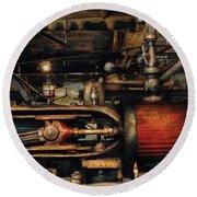 Steampunk - No 8431 Round Beach Towel