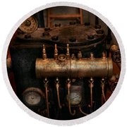 Steampunk - Plumbing - The Valve Matrix Round Beach Towel