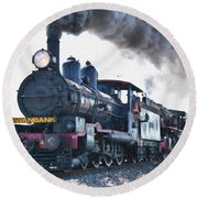 Steamtrain To Carltoncreekhurst L B Round Beach Towel