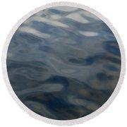 Steel Blue Round Beach Towel by Donna Blackhall