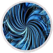 Steel Whirlpool Round Beach Towel