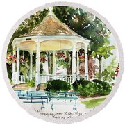 Steele Memorial Bandstand Round Beach Towel
