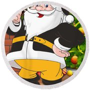 Steelers Santa Claus Round Beach Towel