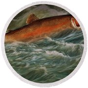 Steelhead Trout Fish No.143 Round Beach Towel