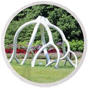 Steelroots Sculpture Round Beach Towel