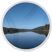 Steepbanks Lake Round Beach Towel