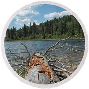 Steepbanks Lake The Fallen Round Beach Towel