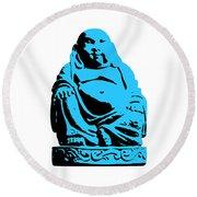 Stencil Buddha Round Beach Towel