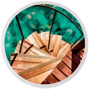 Step Right In Round Beach Towel