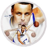 Steph Curry 2017 Profile Round Beach Towel