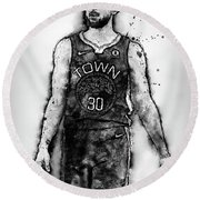 Steph Curry, Golden State Warriors - 18 Round Beach Towel