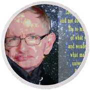Stephen Hawking Poster Round Beach Towel