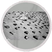 Stepping Stones Round Beach Towel