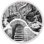 Steps Along The Wissahickon Round Beach Towel