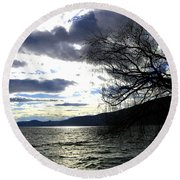 Sterling Silver Sunset Round Beach Towel