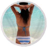 Stetsh Round Beach Towel
