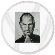 Steve Jobs  Round Beach Towel