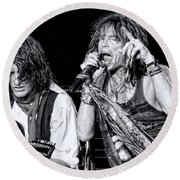 Steven Tyler Croons Round Beach Towel by Traci Cottingham