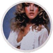 Stevie Nicks In Curls Round Beach Towel