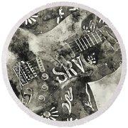 Stevie Ray Vaughan - 03 Round Beach Towel