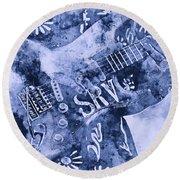 Stevie Ray Vaughan - 04 Round Beach Towel