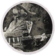 Stevie Ray Vaughan - 13  Round Beach Towel