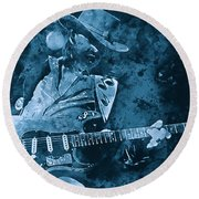 Stevie Ray Vaughan - 14 Round Beach Towel